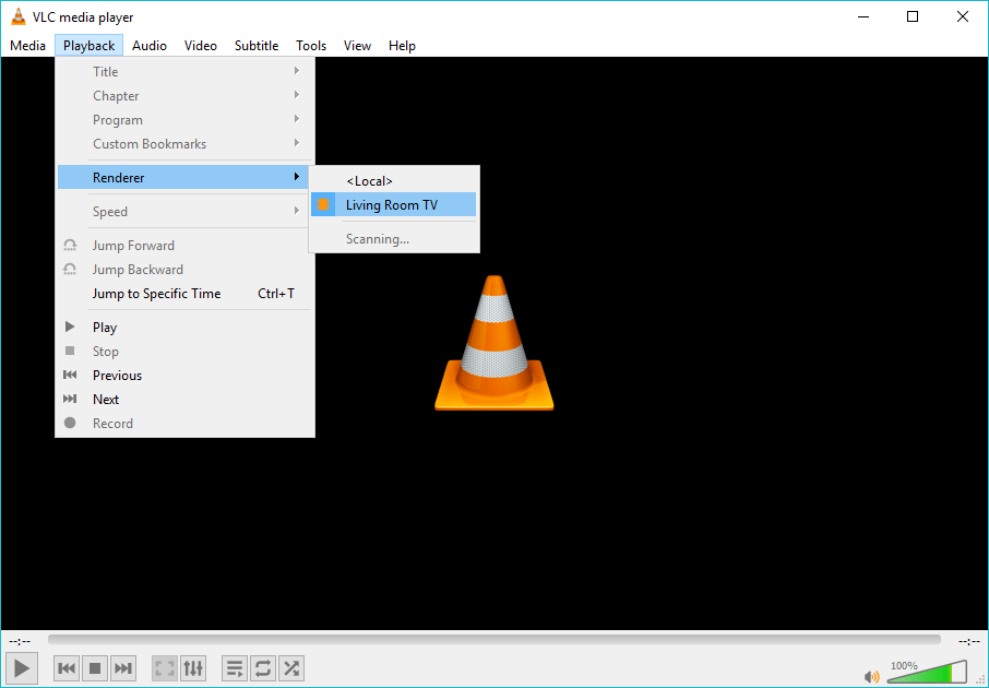 VLC Chromecast stream