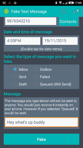 How to fake Text messages