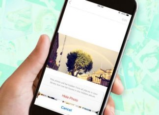 hide images in the photos iPhone