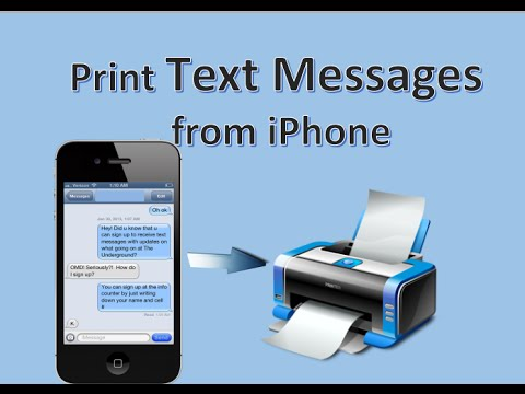 Print Text From iPhone