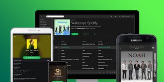 Spotify Web Player on computer and mobile
