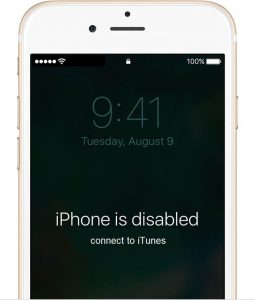 "How to fix ""iPhone is disabled, Connect to iTunes"" error"