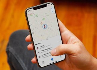 contact arrives in the Find My app