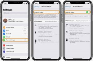 How to Use Personal Hotspot in ios 13